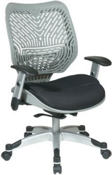 Find Office Star Space Seating 86-M34C625R Unique Self Adjusting SpaceFlex® Fog Back and Raven Mesh Seat Managers Chair near me at OFO Orlando
