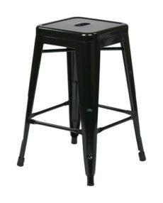 """Find Work Smart / OSP Designs PTR3024A4-3 24"""" Steel Backless Barstool (4-Pack) (Black) near me at OFO Orlando"""