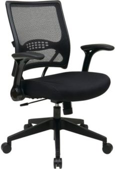 Find Office Star Space Seating 67-37N1G5 2-to-1 Synchro Tilt Professional AirGrid® Back and Mesh Seat Managers Chair with Flip Arms and Angled Gunmetal Coated Base near me at OFO Orlando