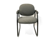Find used green side patterns side/guest chair with black metal bases at Office Furniture Outlet