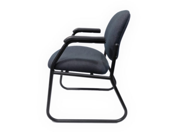 Dark Blue Side/Guest Chair With black Metal Base in Blue at Office Furniture Outlet