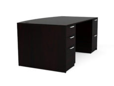 Find used KUL 3641x71 bow desk w/ 1bbf and 1ff ped (esp)s at Office Furniture Outlet