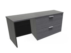 "Find used KUL 24x71 credenza w/ 30"" 2 drawer lateral file (gry)s at Office Furniture Outlet"