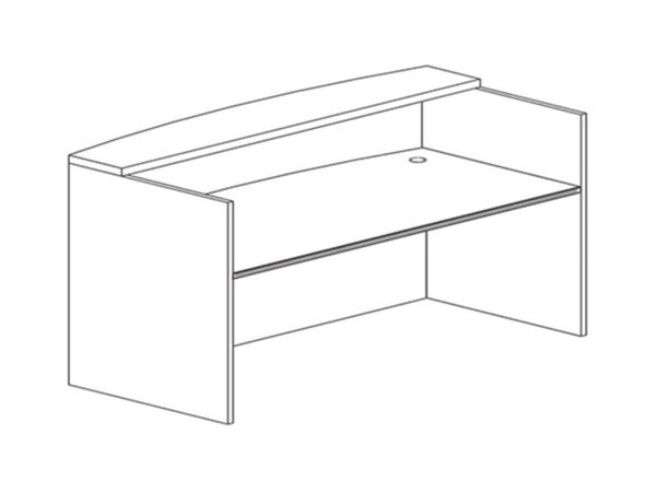Office Furniture Outlet New 3036x71 Recepetion Desk Shell (No Return)