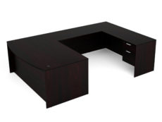 Find used KUL 71x108 bow front u-shape desk w 2bf ped (esp)s at Office Furniture Outlet
