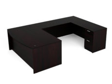 Find used KUL 71x108 bow front u-shape desk w 1bbf and 1ff ped (esp)s at Office Furniture Outlet