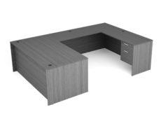 Find used KUL 71x108 u-shape desk w/ 2bf ped (gry)s at Office Furniture Outlet