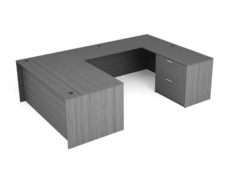 "Find used KUL 71x108 u-shape desk w/ 1bbf and 1 30"" 2 drawer lateral (gry)s at Office Furniture Outlet"